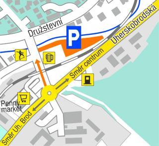 mapka odstavného parkoviště
